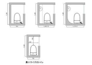 トイレ 間取り 2 Jpg トイレ 寸法 間取り 建築