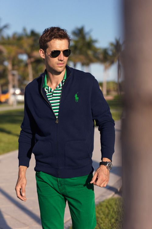 Green pants. So cute. | M A L E S T Y L E | Pinterest | Ralph ...