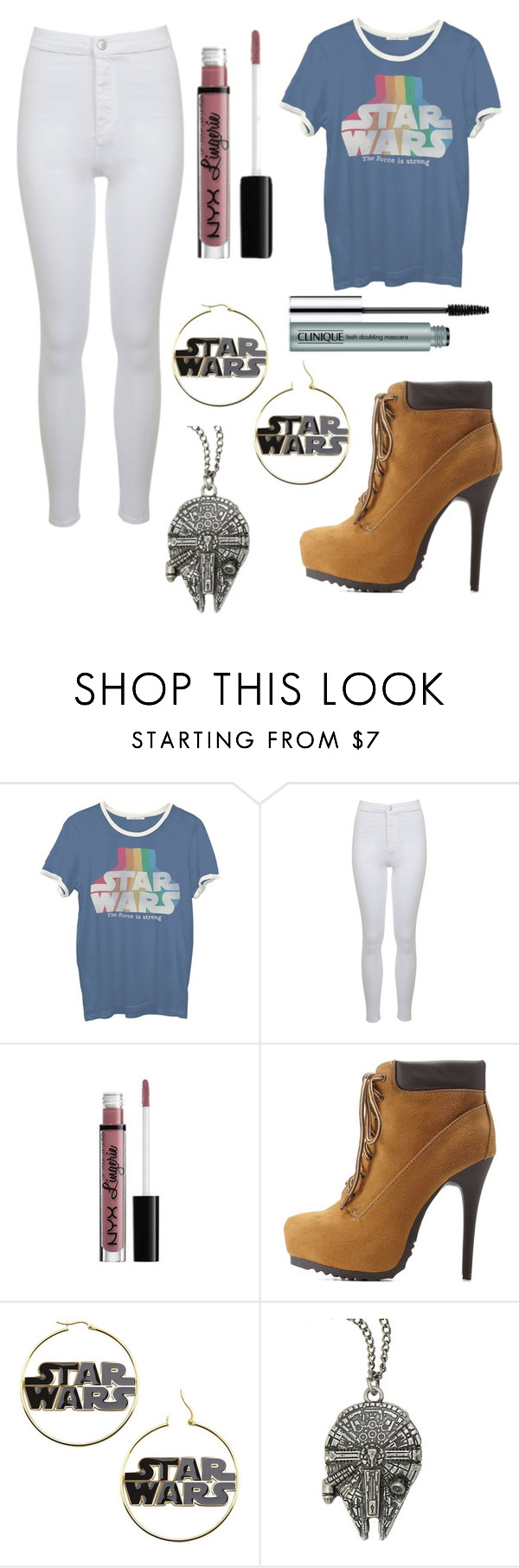 """Star Wars Lovin"" by breona-nytalia ❤ liked on Polyvore featuring moda, Junk Food Clothing, Miss Selfridge, Charlotte Russe i Clinique"