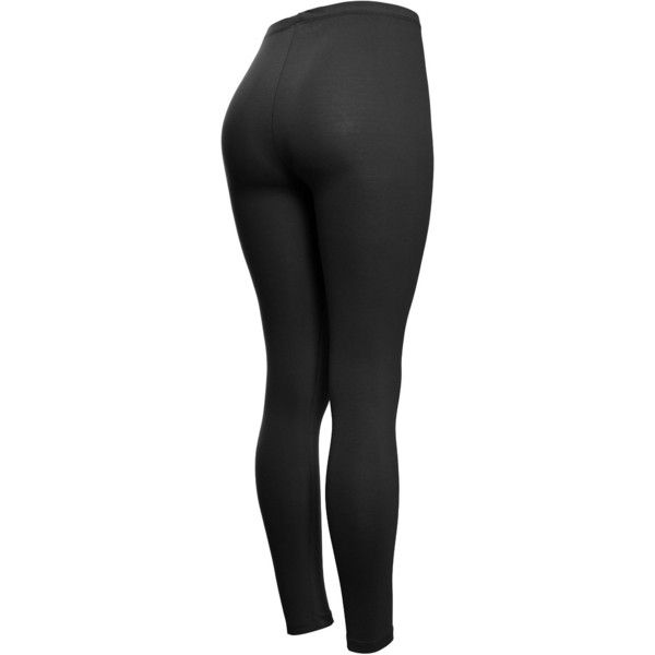 Solid Cotton Leggings (Medium, Black) at Amazon Women's Clothing... ❤ liked on Polyvore featuring pants, leggings, cotton leggings, black leggings, cotton trousers, black trousers and black pants