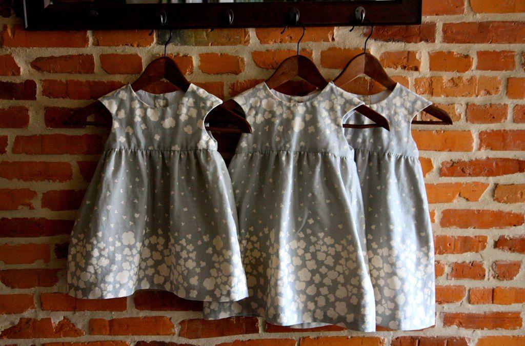 https://flic.kr/p/idKHbj | flower girl dresses - o+s bubble dress | o+s bubble dress, sizes 4 and 2.  no bubble on the bottom, fuller skirt.  nani iro.