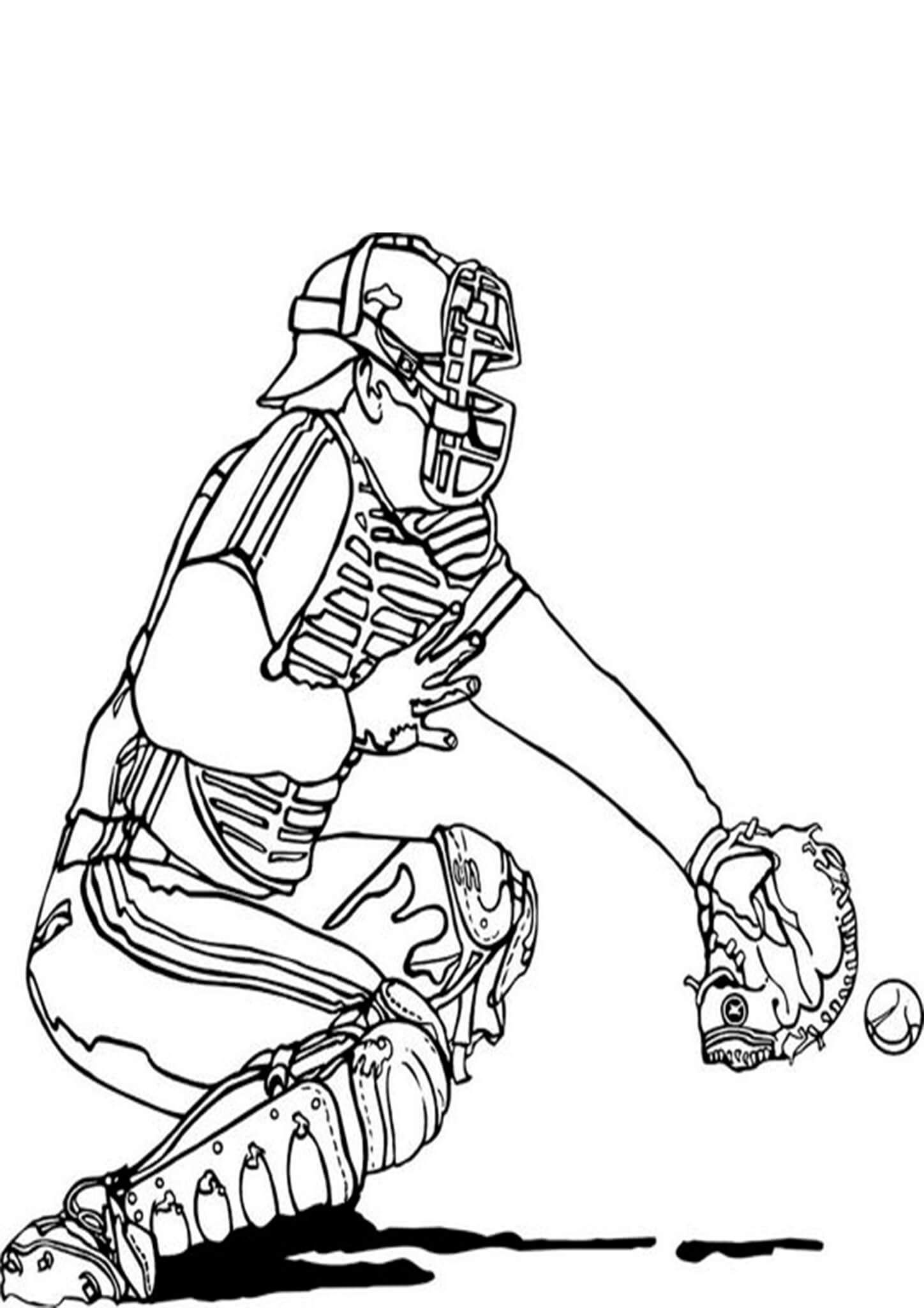 Free Easy To Print Baseball Coloring Pages In 2021 Baseball Coloring Pages Coloring Pictures Sports Coloring Pages