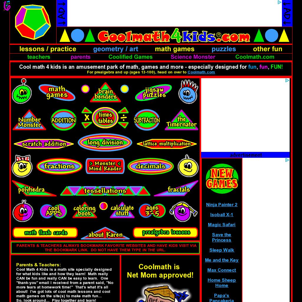 I love CoolMath4Kids.com! Website \'http://coolmath4kids.com ...