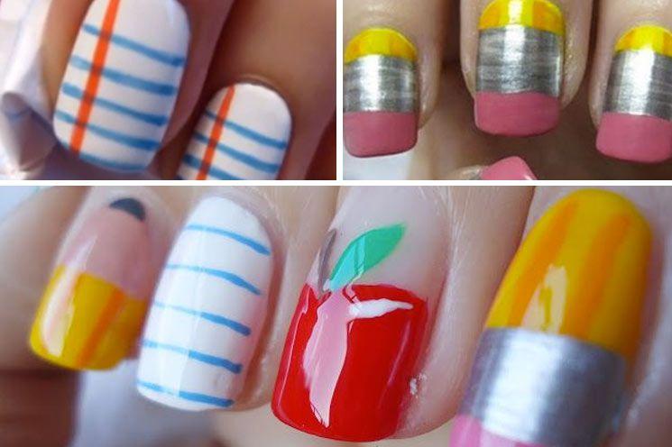 Love This Back To School Nail Art Nail Designs Pinterest