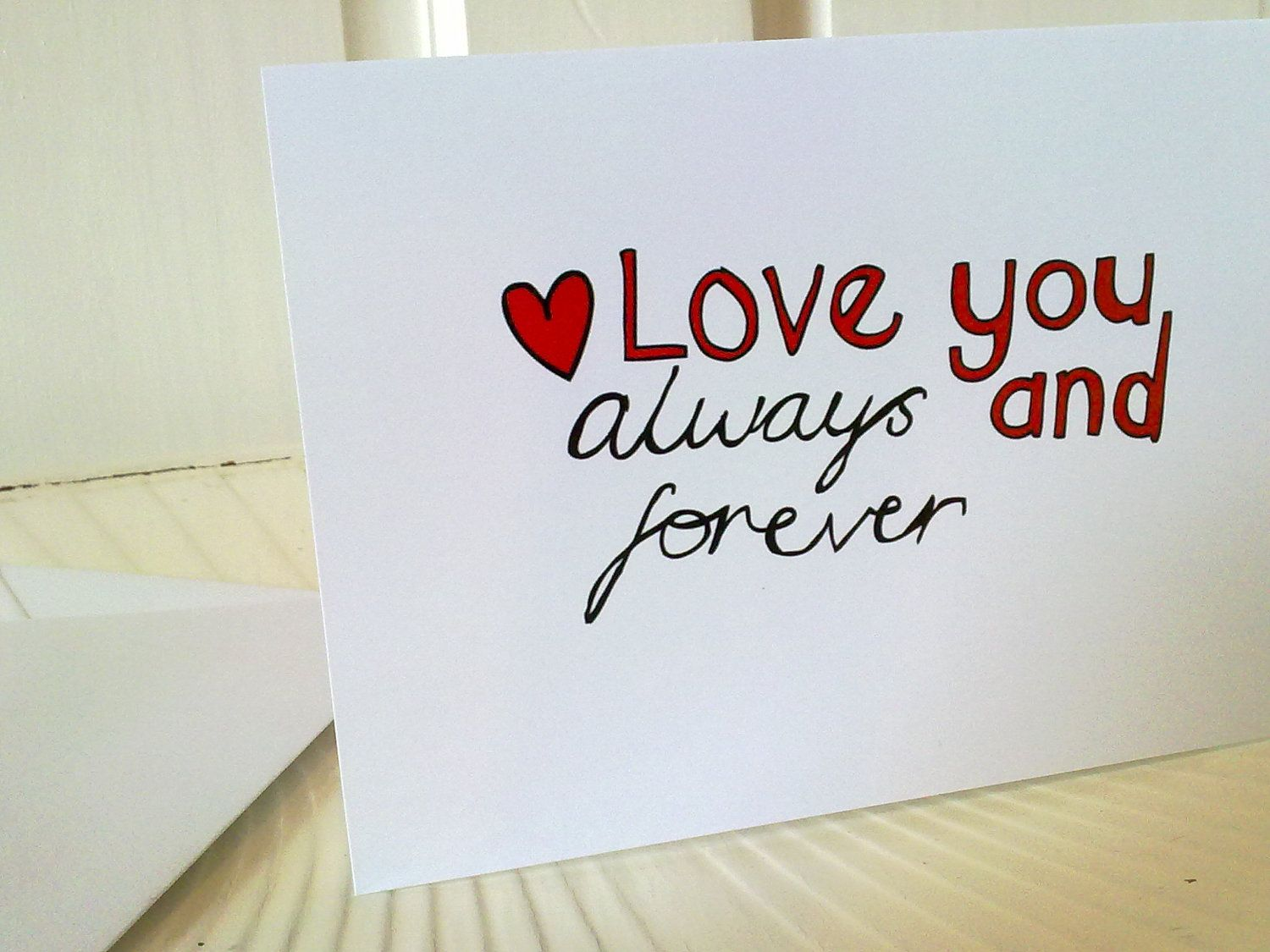 love you always and forever | Items similar to Love You Always and Forever  Card on Etsy