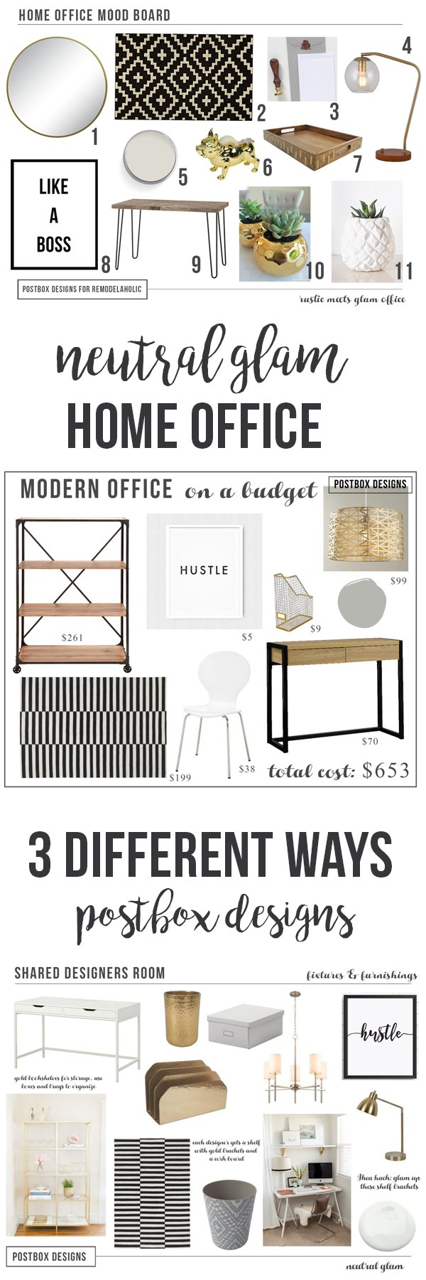 Create the Perfect Home Office Design In Minutes+ Free Shopping List ...