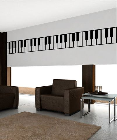 Vinyl Wall Decal Sticker Piano Keys #OS_MB887 | Stickerbrand Wall Art Decals,  Wall Graphics