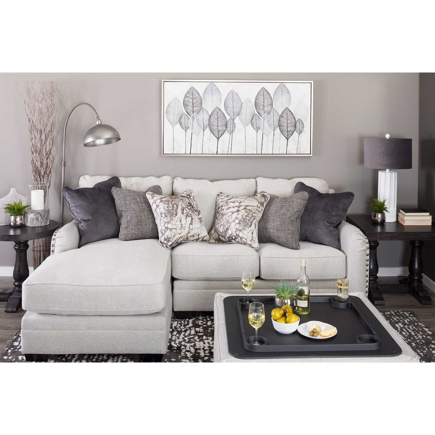 Dellara 2pc Sectional With Laf Chaise