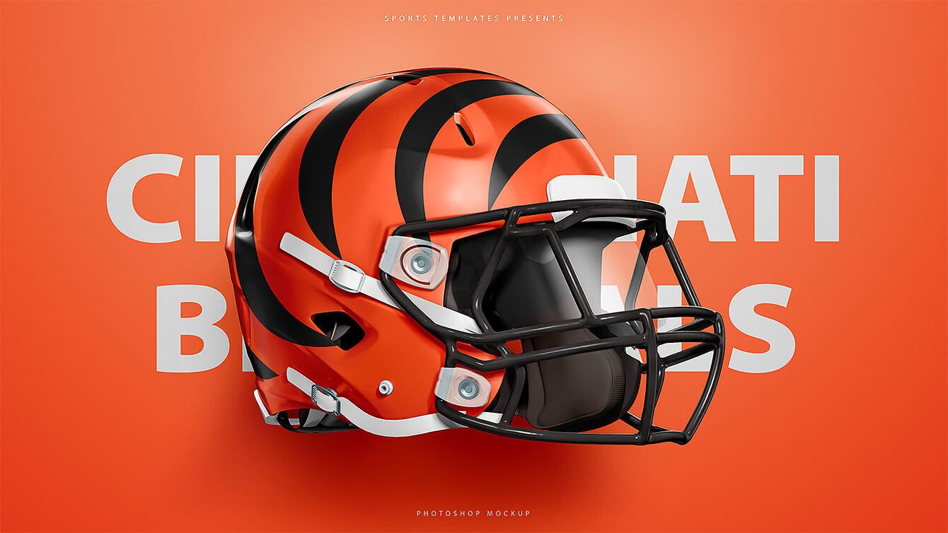 Cincinnati Bengals Photoshop Psd Helmet Template Football