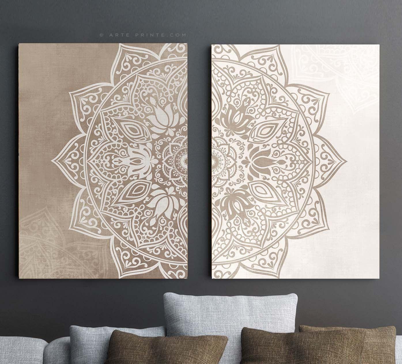 Mandala Wall Art Canvas Or Paper Prints Boho Bedroom Living Etsy Mandala Wall Art Wall Art Living Room Canvas Art Wall Decor #wall #prints #for #living #room