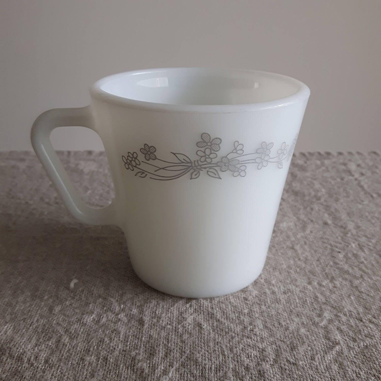 Pyrex Coffee Mug Ribbon Bouquet