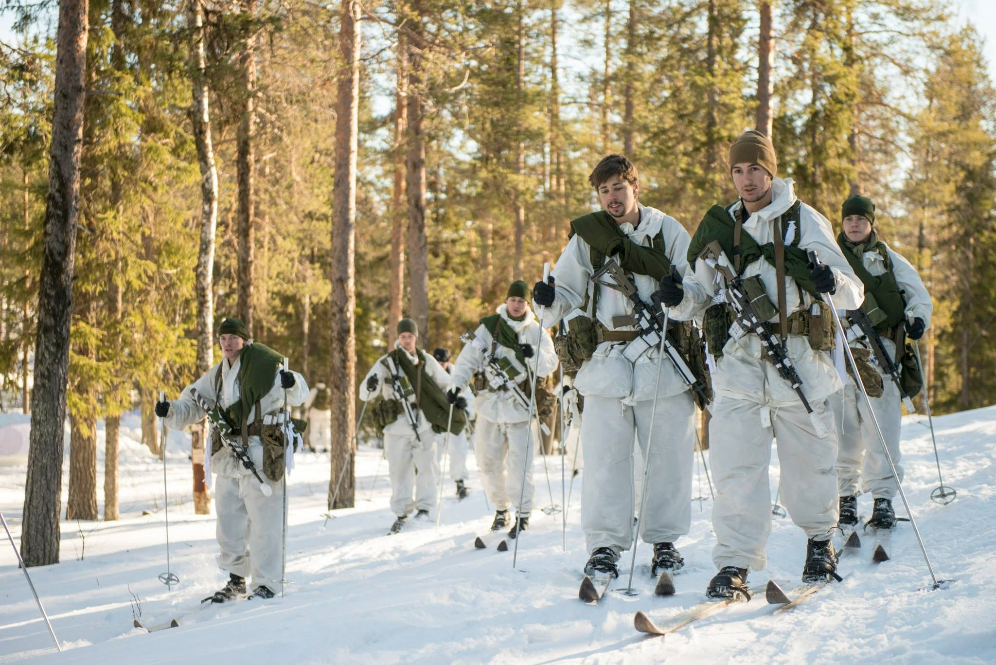 Danish soldiers on ongoing winter exercises near boden for Boden sweden