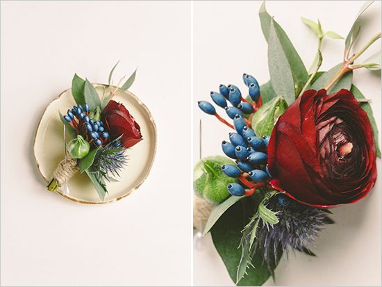 New Zealand Romantic Winter Wedding Bouquets