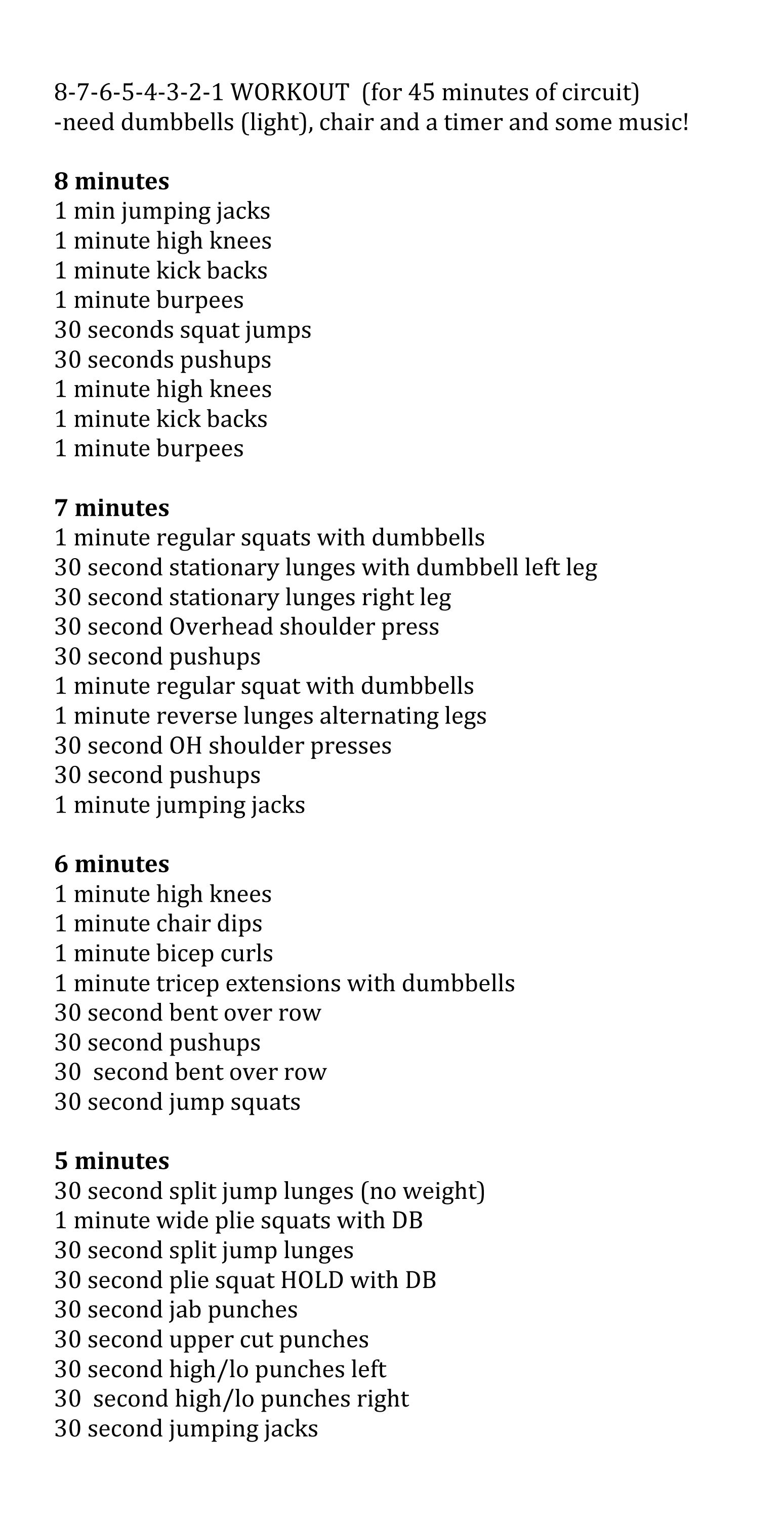 Circuit Workout At Home Or Gym