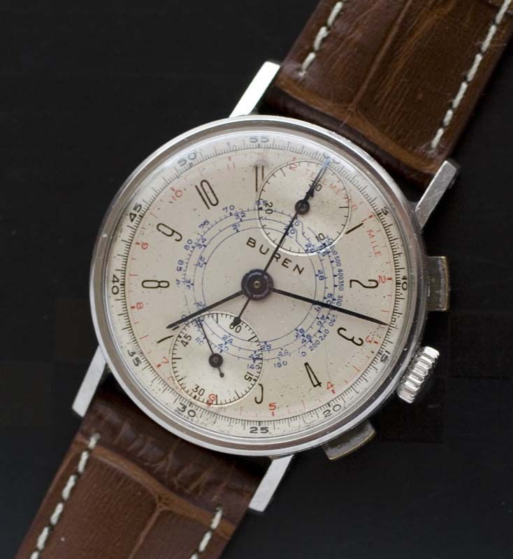 Buren art deco chronograph circa 1940s in 2020 vintage