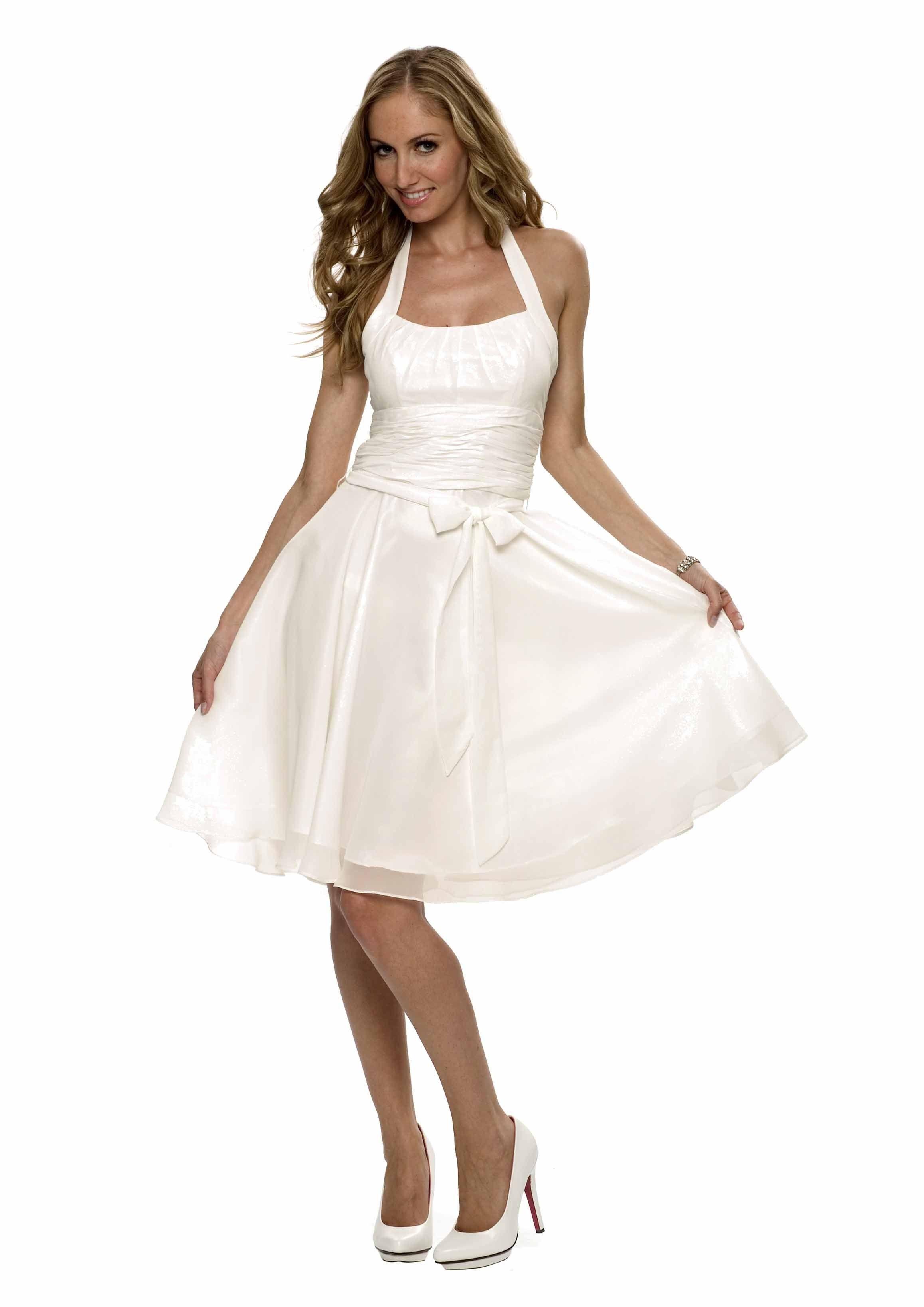 Elegantes Chiffon Cocktailkleid, Farbe weiß - Hochzeit - Anlässe ...