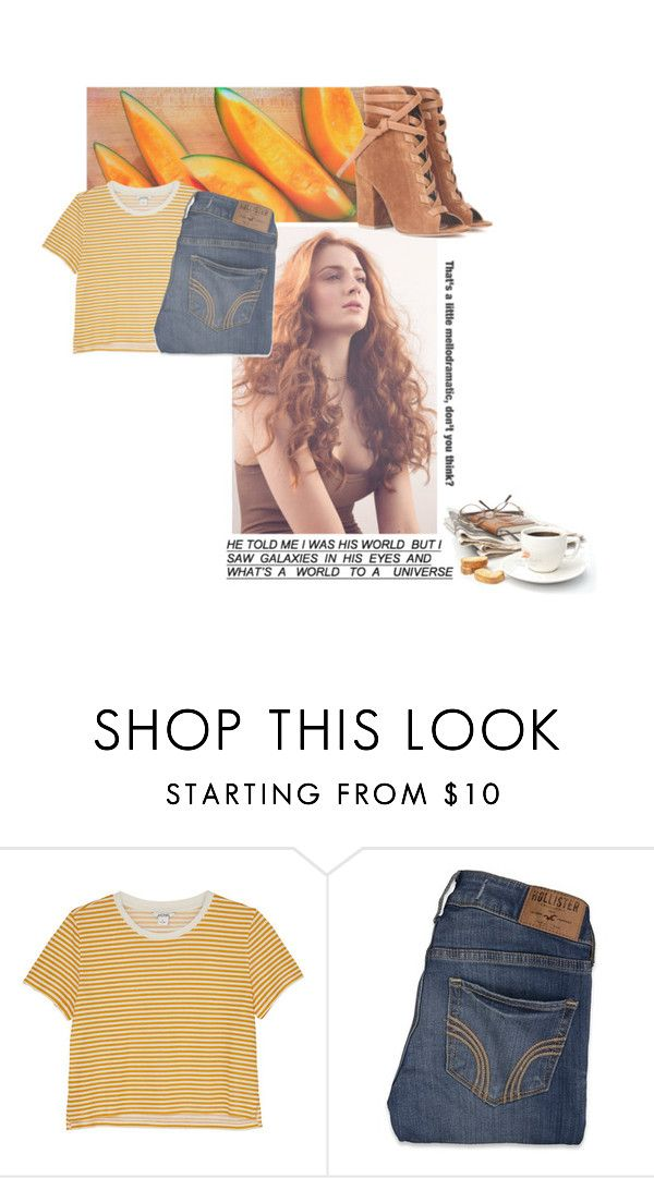 """""""❀You, me, & a cup of tea❀//Glenn Rhee"""" by polyvore-fangirls ❤ liked on Polyvore featuring Monki, Hollister Co., Gianvito Rossi, simpleset, sophieturner and brithaniescreations"""