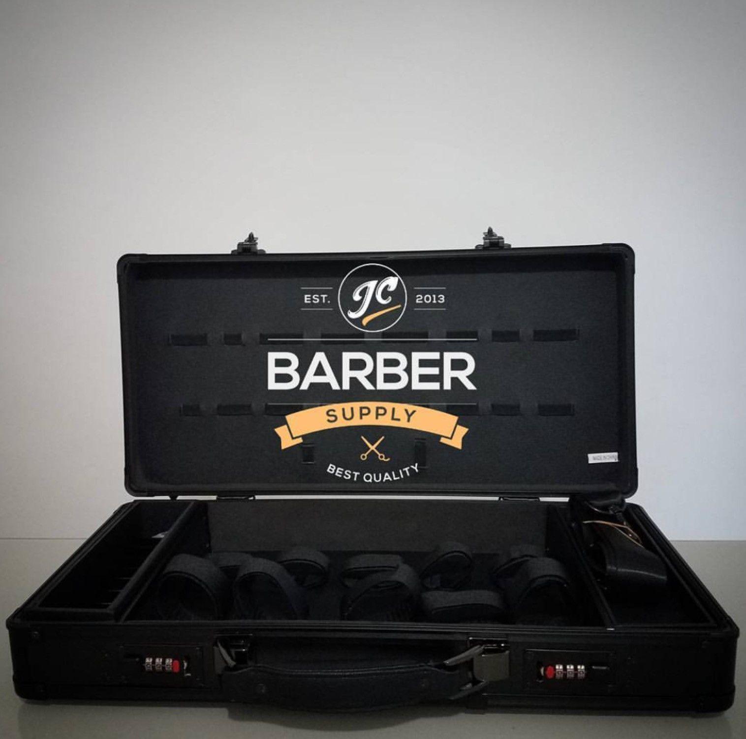 All Black Barber Briefcase