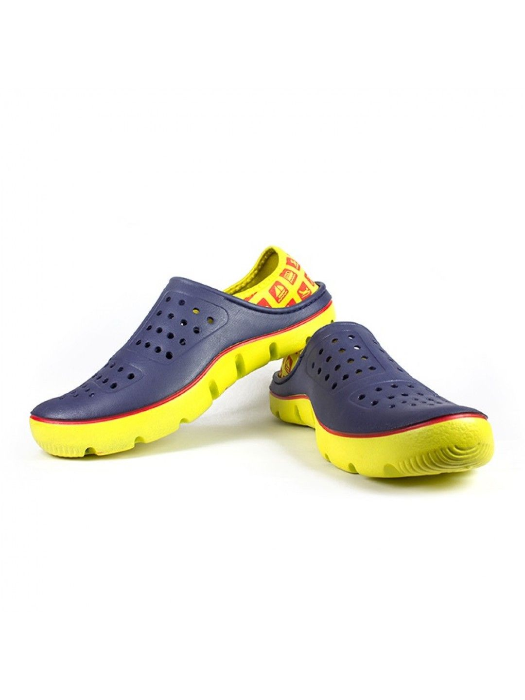 Buy Vostro Bob Blue Yellow Crocs Sandals & Floaters online Shoping in India  made From Distressed