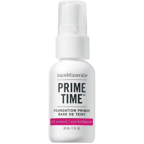 Bareminerals Prime Time Foundation Primer (135 BRL) ❤ liked on Polyvore featuring beauty products, makeup, face makeup, makeup primer, primer, hygiene, transparent, womens-fashion and bare escentuals