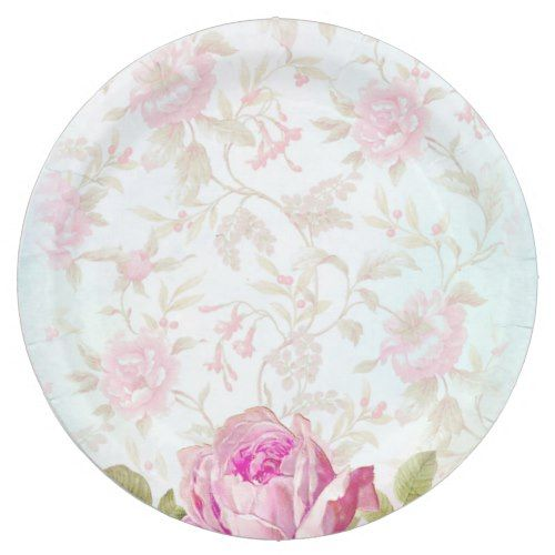 Vintage Roses Paper Plate  sc 1 st  Pinterest & Vintage Roses Paper Plate | Vintage weddings Floral wedding and Wedding