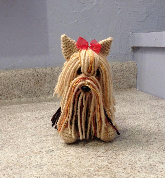 Yorkie  Stuffed Animal  Amigurumi  Toy by meddywv on Etsy, $30.00