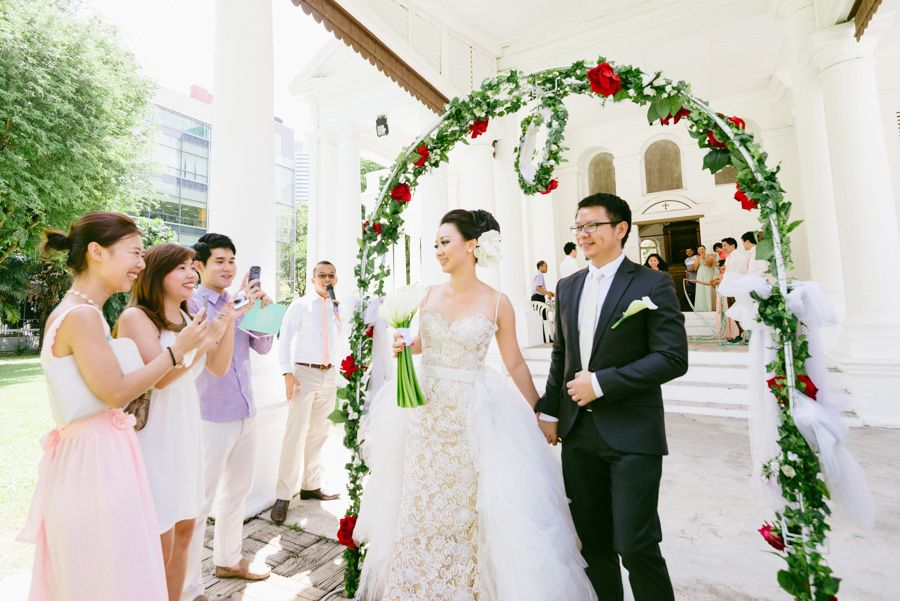 wedding reception photo booth singapore%0A Edwin and Anseina u    s Pastel Perfection Wedding at the Armenian Church of  Singapore