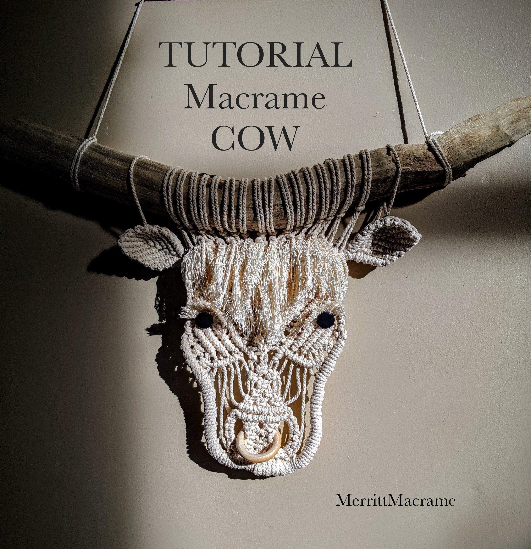 Macrame Cow Tutorial / Pattern   Etsy