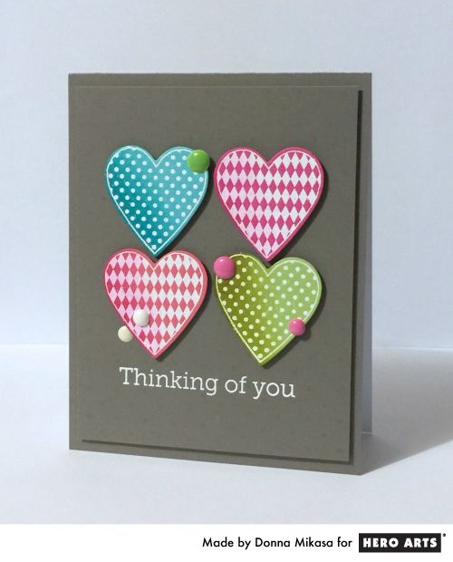 Ideas For Valentine Cards To Make Part - 41: Blog. Valentine HeartsValentine IdeasValentinesHero Arts CardsCute ...