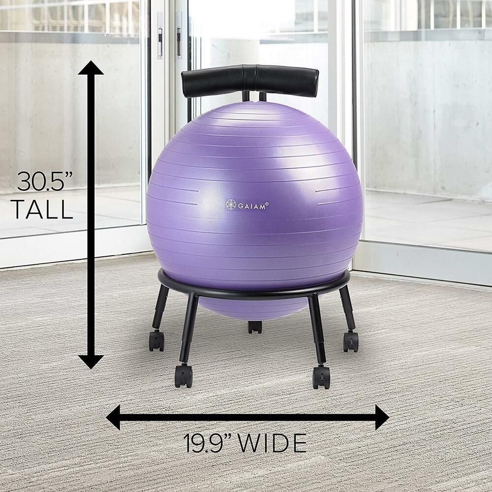 Balance Yoga Ball Chair Stability with Back Stand Fitness