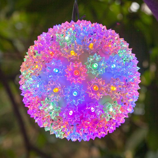 multicolor led starlight sphere christmas porch ideaschristmas lightschristmas