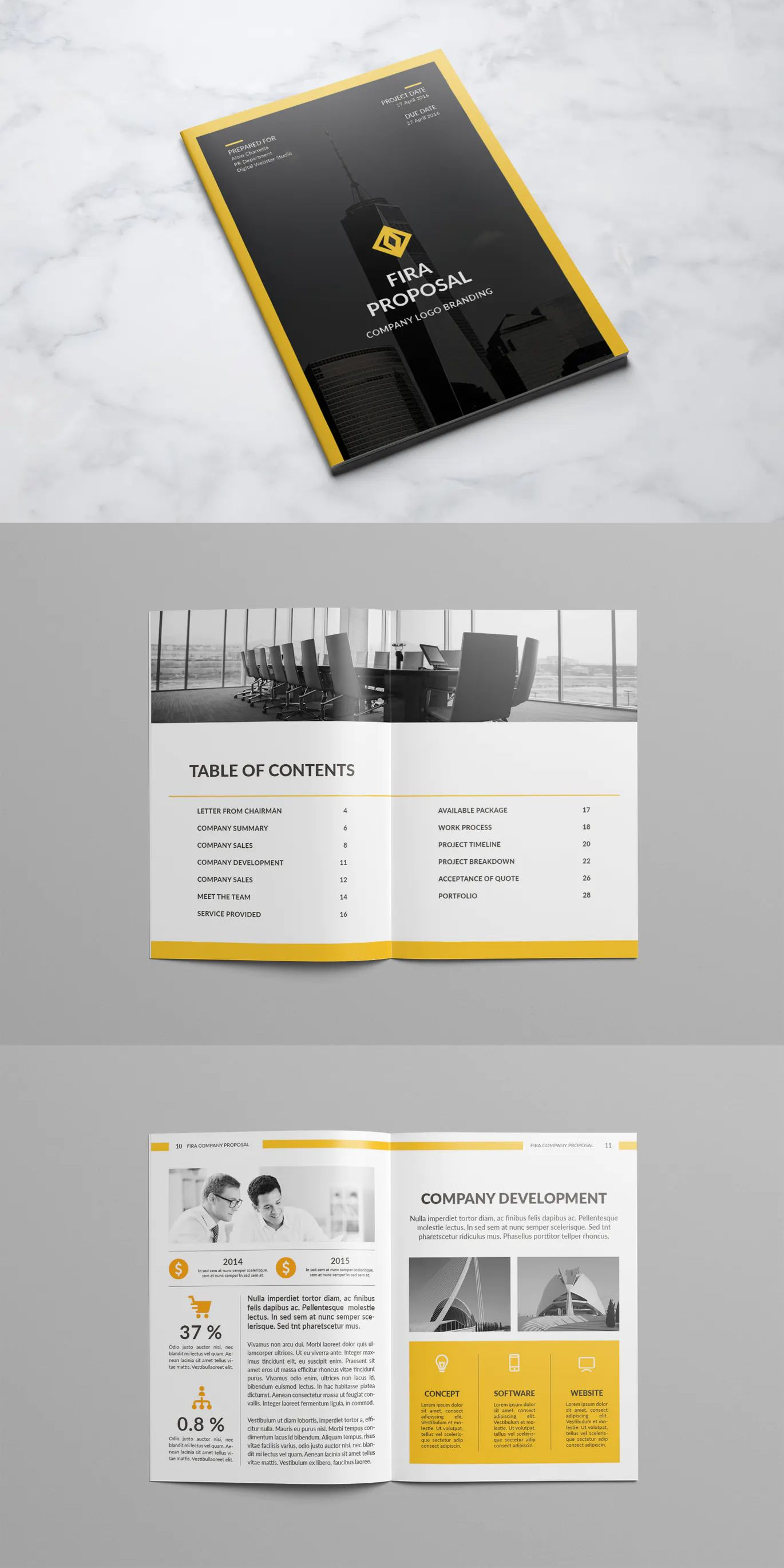 Company Proposal By Atsar On Envato Elements Proposal Templates Templates Proposal
