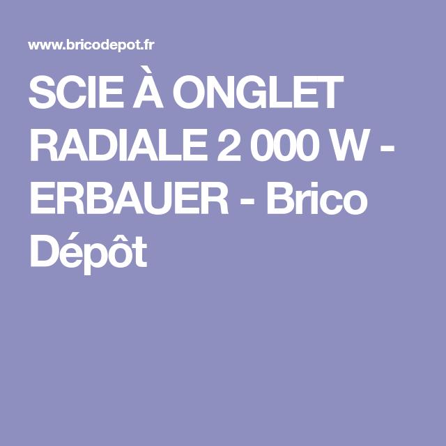 Scie à Onglet Radiale 2 000 W Erbauer Scie à Onglet