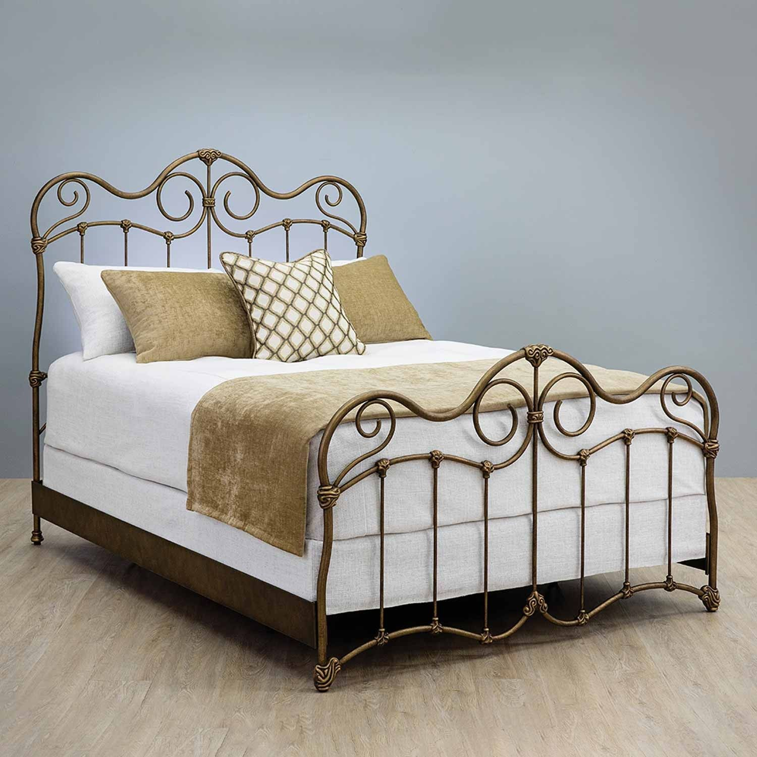 Stonehurst Iron Bed with Metal Profile Frame by Wesley