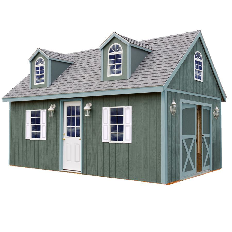 Shop Best Barns Arlington Without Floor Gable Engineered Wood Storage Shed Common 12 Ft X 20 Ft Interio Wood Shed Kits Wood Storage Sheds Shed To Tiny House