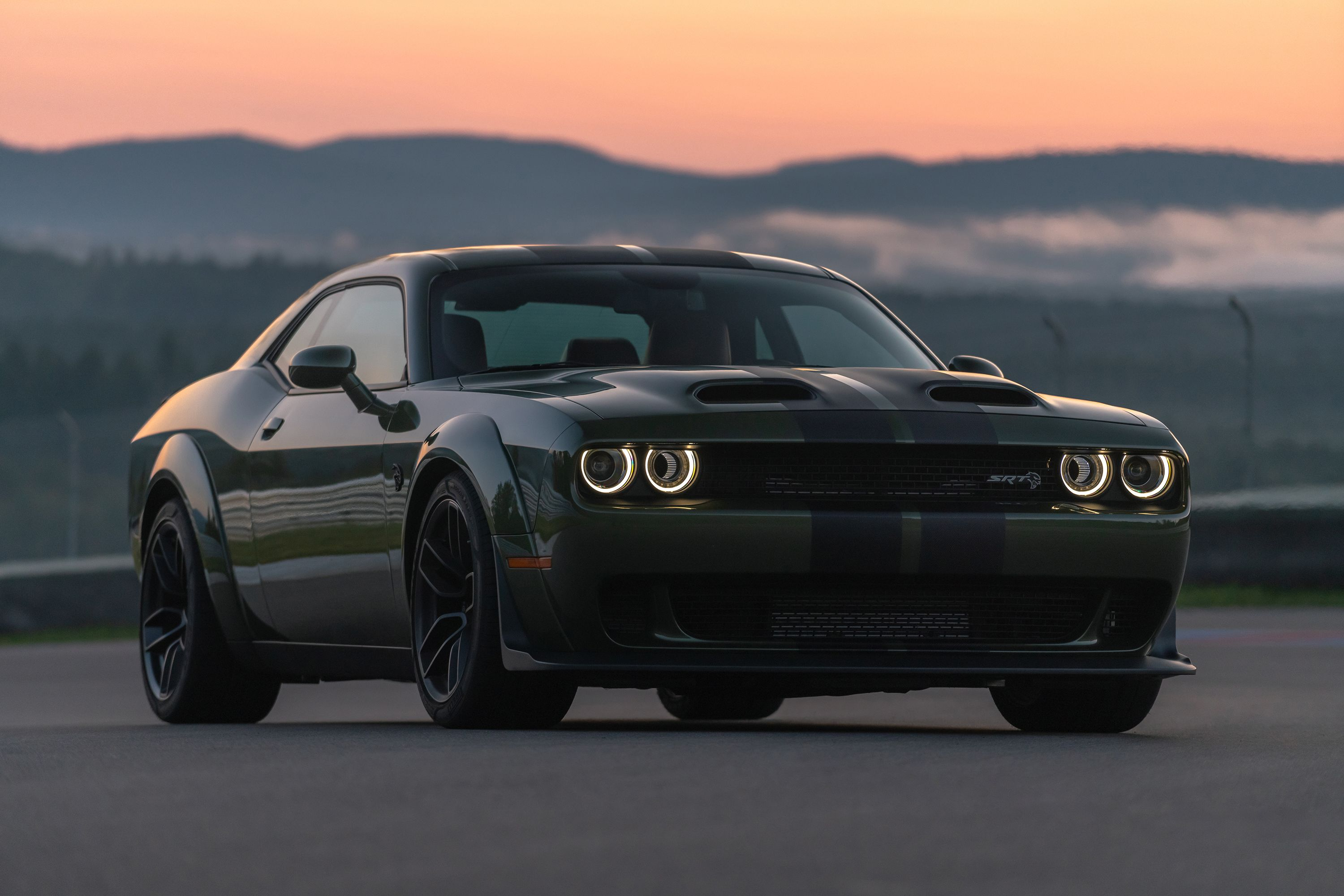 2019 Dodge Challenger Srt Hellcat Redeye F8 Green With Dual Carbon