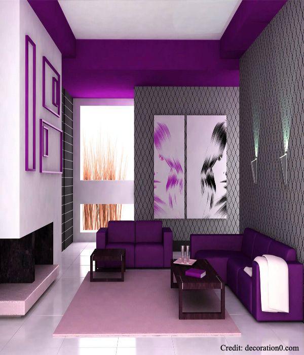 Purple Interior Paint: Stylish Interior Designs 2014