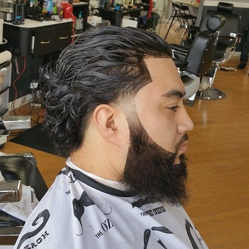 Image Result For Mens Curly Hair Slicked Back Ponytail My