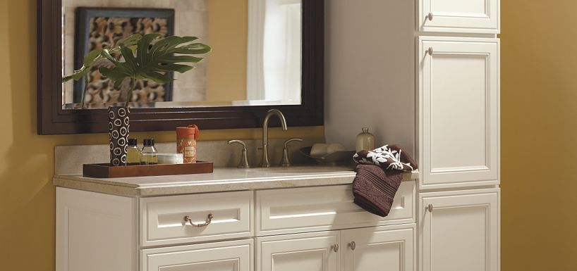 Admirable Blakely Maple Pearl Paint By Thomasville Cabinetry Bath Interior Design Ideas Clesiryabchikinfo