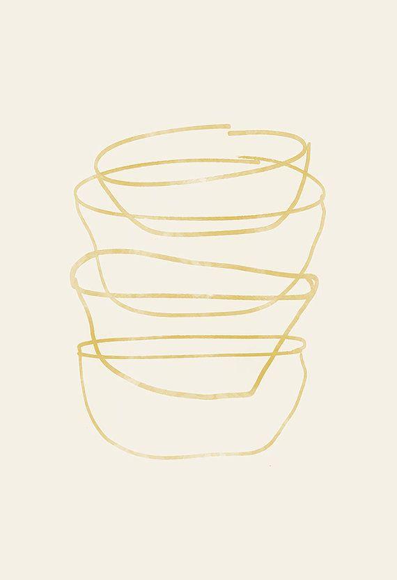 minimalistische mitte jahrhundert küche print - giclée-druck ikea, Hause deko