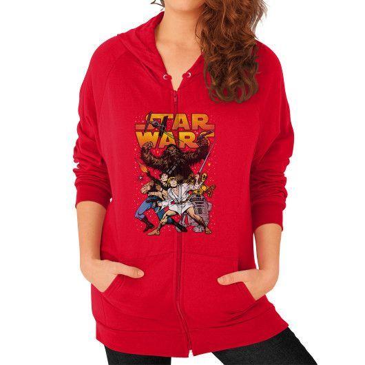 Rebel Alliance Battle Pose Zip Hoodie (on woman)