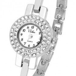 Thin Silver Watch made with SWAROVSKI® crystal $78.00 (AUD) | Free Delivery* at Red Wrappings