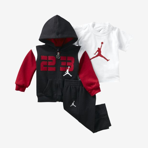 49a3f655633 Jordan Jumpshot Three-Piece Newborn Boys  Set