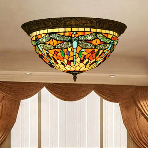 Tiffany flush mounted ceiling light tiffany lamps used in home tiffany flush mounted ceiling light aloadofball Image collections