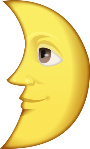 First Quarter Moon With Face Emoji Moon Face Emoji Emoji Images