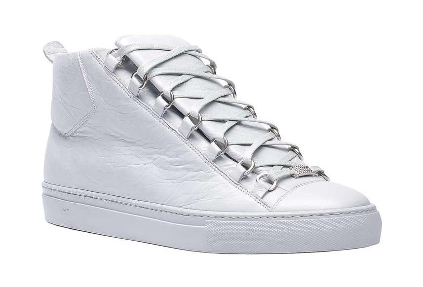 50be9d9c81a3 Balenciaga   Arena High-Top Sneaker  White