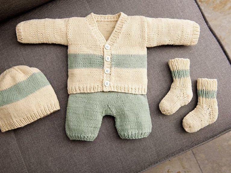 Diy Anleitung Set Für Baby Stricken Jacke Hose Strümpfe Und