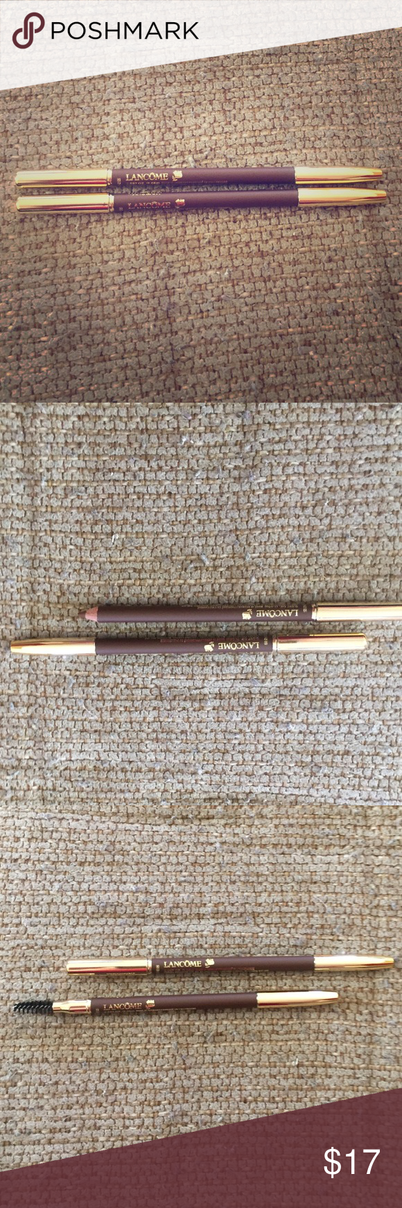 Two brand new Lancôme brow pencils! Two brand new Lancôme brow pencils! They are both in the color Mahogany. They can be sold separately too! Lancome Other