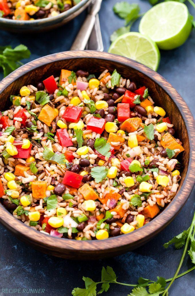 Southwest Sweet Potato, Black Bean, Wild Rice Salad is a ...