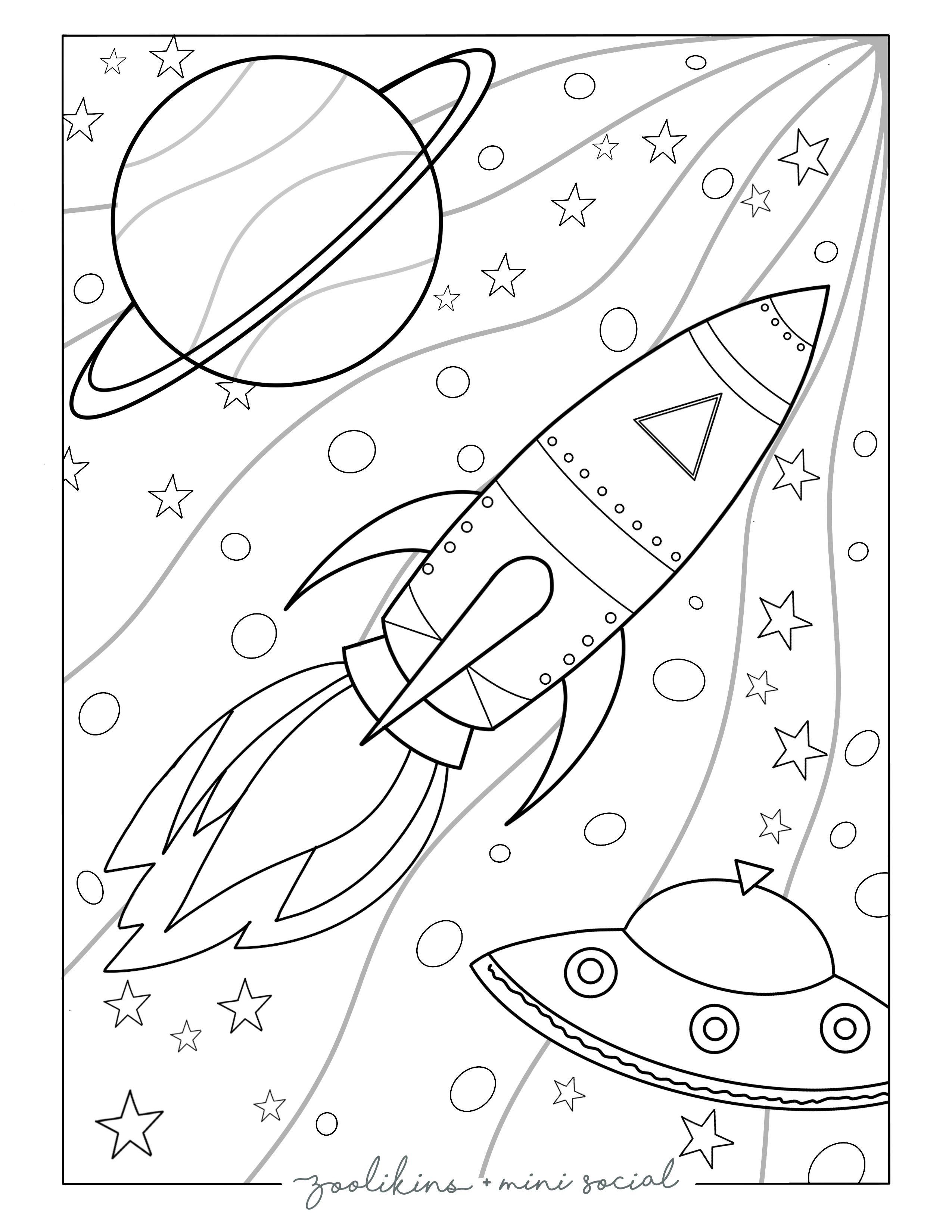 Space Coloring Page Space Coloring Pages Coloring Pages Christmas Coloring Pages [ 3300 x 2550 Pixel ]
